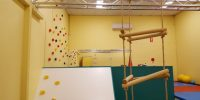 Kids can have fun on our climbing wall and rope ladder